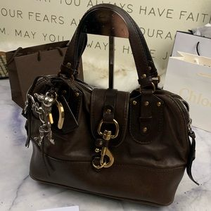 CHLOE Kerala dark brown satchel